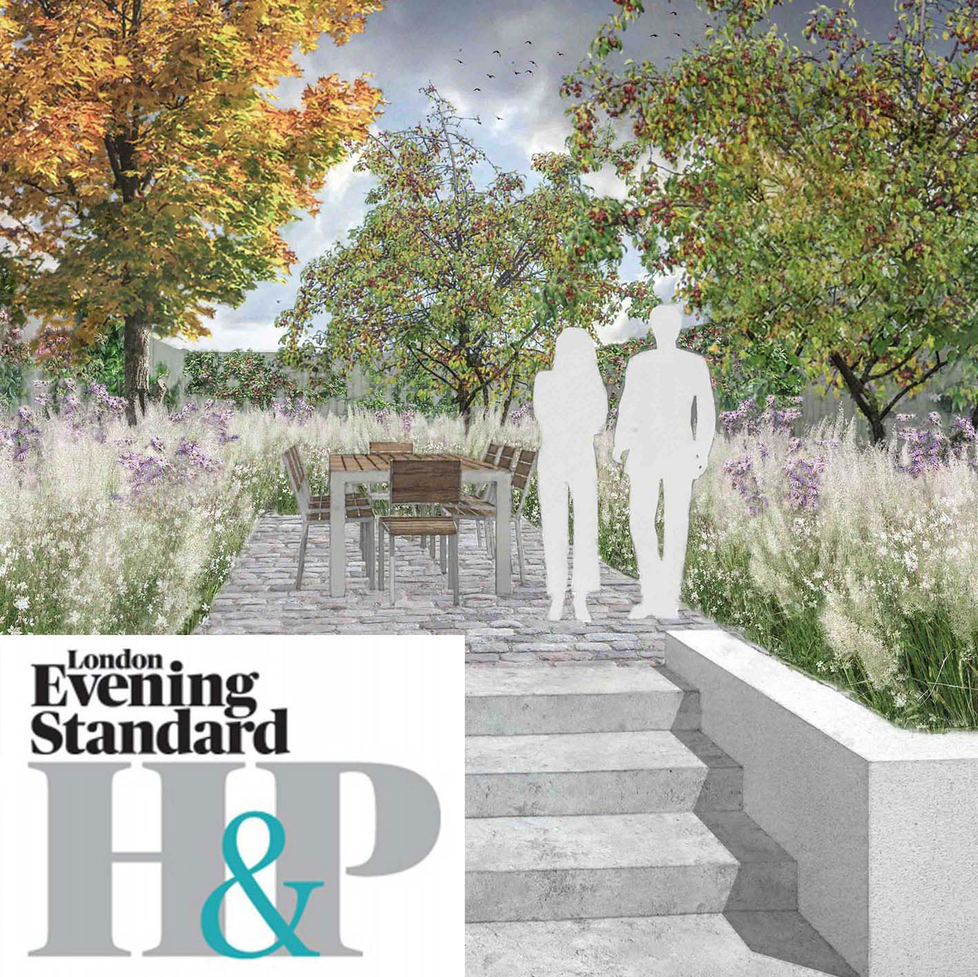Colm Joseph Gardens - Evening Standard low maintenance planting design ideas for small garden